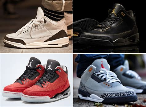 imagenes jordan retro 3 a complete retro history of the air jordan 3 sneakernews com