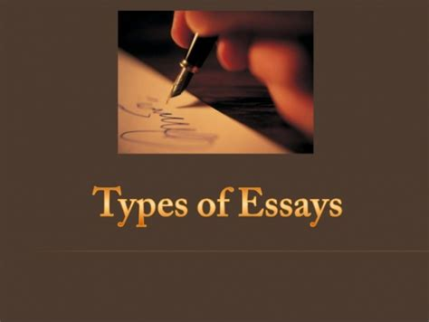 Types Of Academic Essays by Types Of Academic Essays Amexwrite Inc