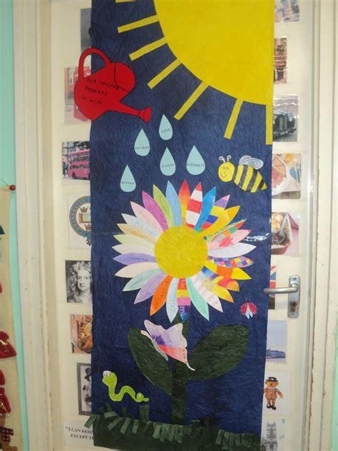 spring door decoration   language classroom