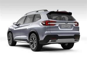 7 Seater Subaru New York 2017 Subaru Ascent 7 Seat Suv Concept Premieres