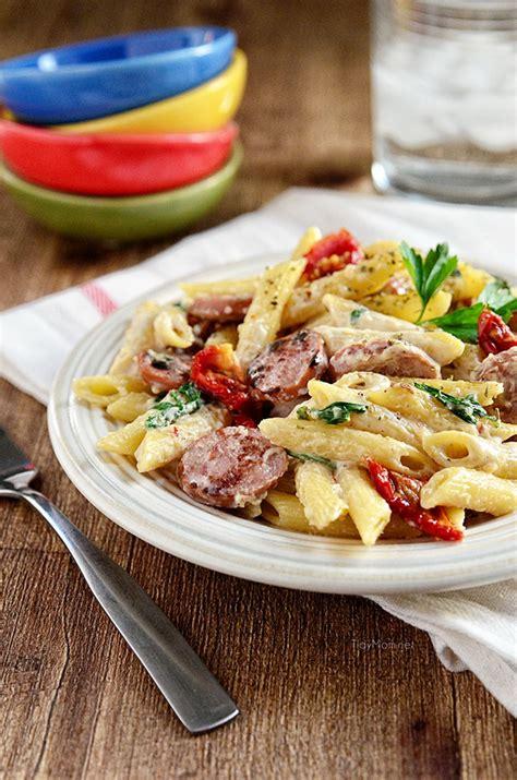 turkey sausage alfredo pasta recipe smoked sausage alfredo
