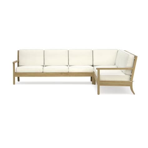outdoor l shaped couch somerset 3 piece l shaped outdoor teak sofa sectional