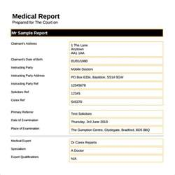 How Write Report Sample Template sample medical report template 14 free documents in pdf