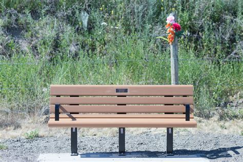 hit the bench memorial benches for kamloops hit and run victim in place
