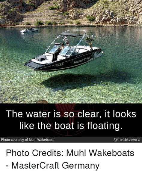 floating boat meme tr the water is so clear it looks like the boat is