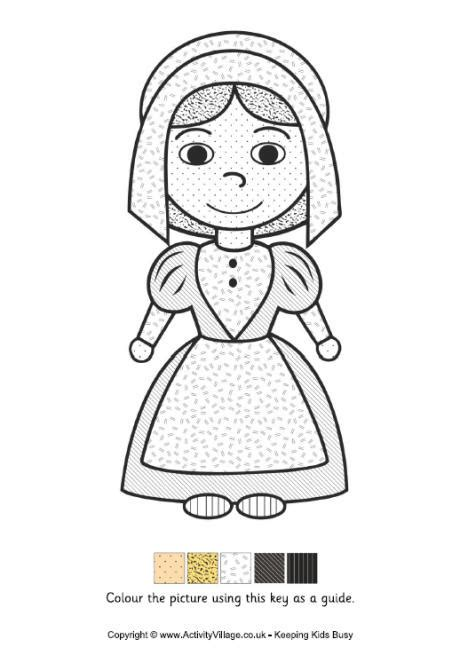coloring page of a pilgrim girl 15 free kids thanksgiving activity sheets coloring pages