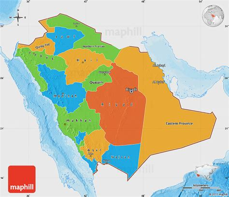 political map of saudi arabia political map of saudi arabia single color outside