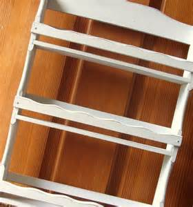 shabby chic white wood spice rack with 3 shelves rustic