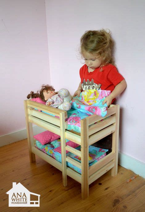 ana white build a doll bunk beds for american girl doll