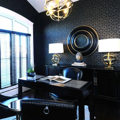 Gold Office by Black And Gold Office Decor Ideas