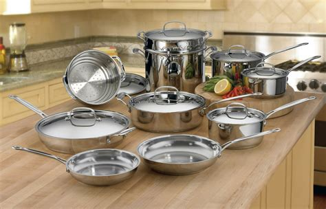 Oxone Classic Cookware Set cuisinart chef s classic stainless steel ultimate cookware set 17 cutlery and more