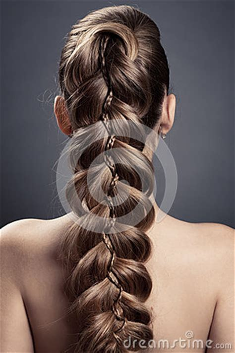 long brown hair  view royalty  stock