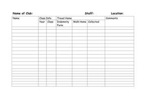 School Register Template Spreadsheet by Template For After School Clubs By Lbaggley Teaching