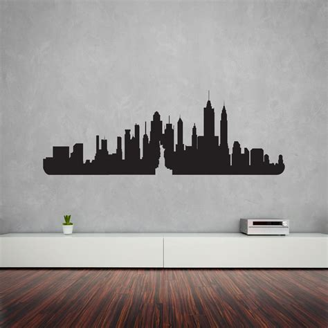york city skyline vinyl wall art decal vinyl revolution