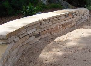 the 2 minute gardener photo dry stack flagstone seating wall