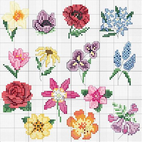 Gardens Inc 3 Flower Patterns Best 20 Cross Stitch Flowers Ideas On