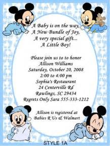 Free Mickey Mouse Baby Shower Invitation Templates by Mickey Mouse Baby Shower Invitations For Boys Xyz