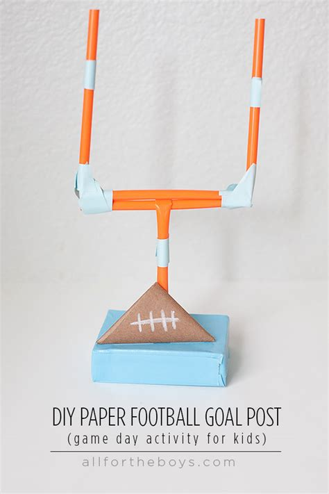 How To Make A Paper Football Field Goal - gameday activity to keep busy all for the boys