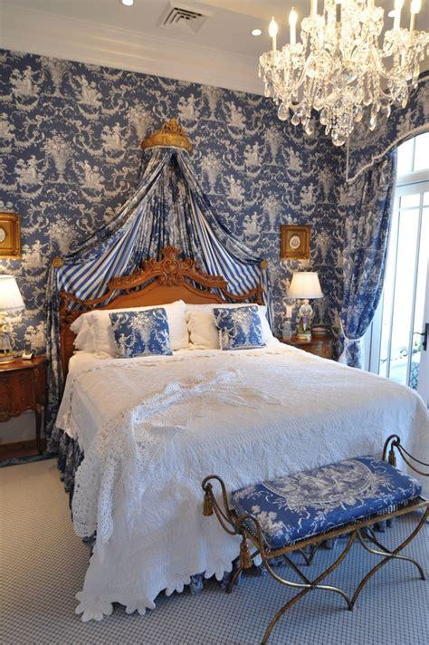 deep blue toile interiors  color