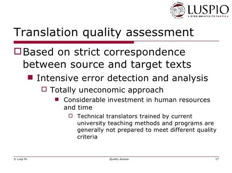 thesis on translation quality assessment quality assessment and economic sustainability of translation