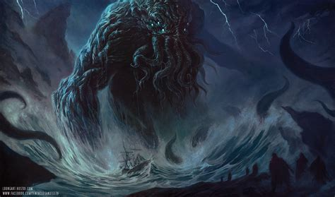 paint deviantart cthulhu painting by tentaclesandteeth on deviantart