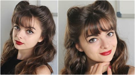 hairstyles to pin up bangs pin up hairstyle bangs victory rolls loepsie