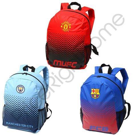 Backpack Manchester City Dongker football fade backpacks manchester city united fc barcelona liverpool fc ebay