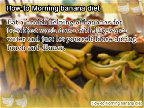 Banana Detox Diet Weight Loss by Morning Banana Diet A Weight Loss Plan That Is Bananas
