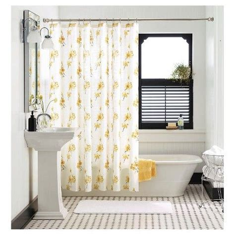 yellow flower curtains 17 best ideas about floral shower curtains on pinterest