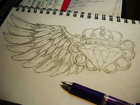diamond with wings tattoo designs wings by midicr0nica on deviantart