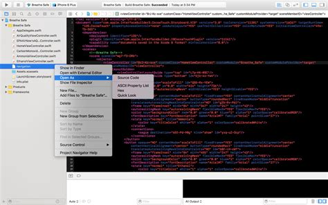 email format xcode xcode main storyboard changed to xml file stack overflow