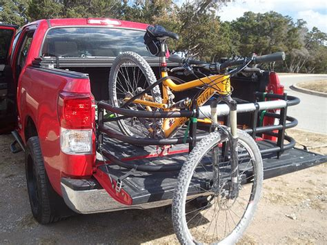 truck bed bike rack diy show your diy truck bed bike racks mtbr com