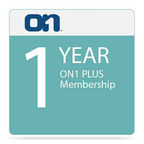 1 Year Membership onone software on1 plus on1 plsyrlybh b h photo