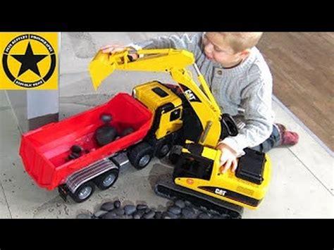 2438 Cat Excavator by Bruder Trucks For Children 2438 Cat Excavator Malfunction