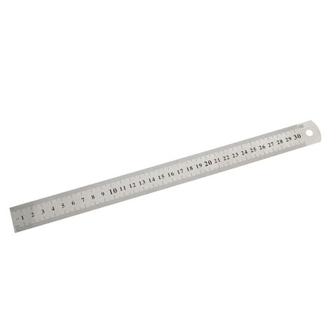 30cm stainless steel metal ruler metric precision sided measurement tools school