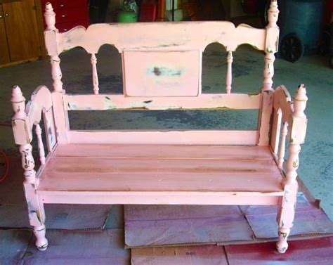 bench made from bed headboard turn an old bed frame into a bench design dazzle