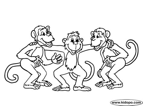 evil monkey coloring pages free coloring pages of three monkeys