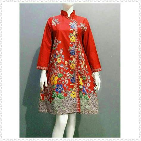 jual atasan wanita tunik batik jumbo baju batik kerja