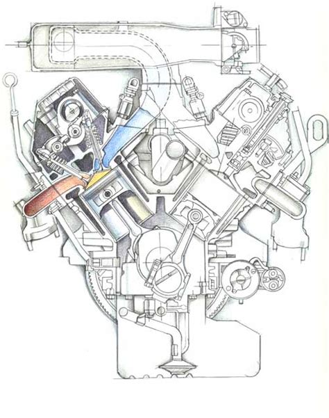 engine cross section car cross section diagram car free engine image for user