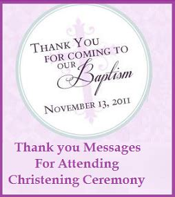 thank you letter to pastor for baptism sle messages and wishes thank you messages for