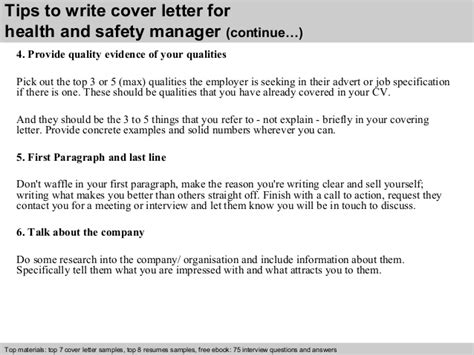 Hse Advisor Cover Letter by Health And Safety Manager Cover Letter