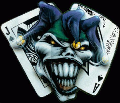 joker tattoo z kartami karty i głowa klauna wz 243 r tatuażu