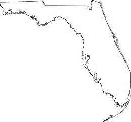 florida state map outline florida state line free clip