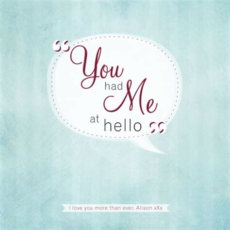 000748805x you had me at hello personalised you had me at hello framed print the gift