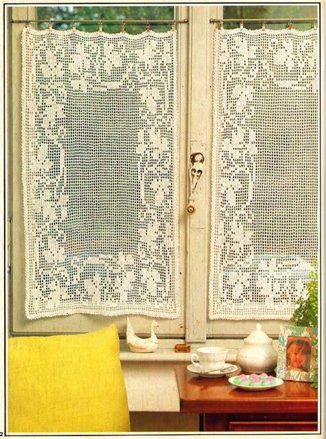 filet crochet curtains filet crochet cottage curtains vintage crochet pattern