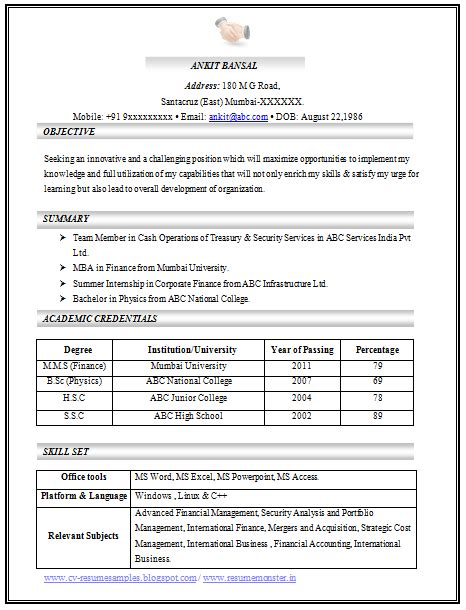 templates for excellent resumes 100 cv templates sle template exle of beautiful