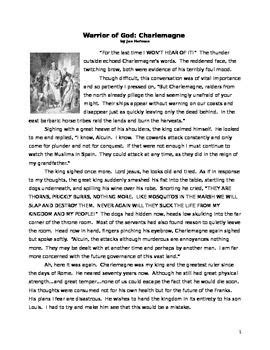 Charlemagne Historical Fiction Reading, Essay and Primary