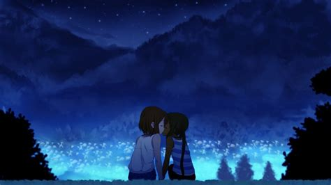 wallpaper anime kiss hd romance anime love couple kissing images hd