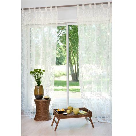 casa fiora draperies fiora cotton tab top curtain 140 x 250cm maisons du monde
