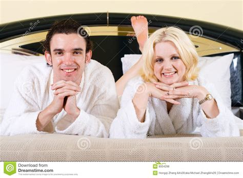 cute couples in bed cute couple in bed royalty free stock photos image 8004298